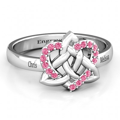 Celtic Heart Personalised Ring - AMAZINGNECKLACE.COM