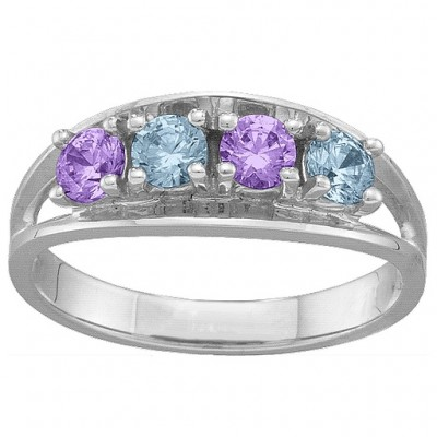 Classic 2-6 Gemstones Personalised Ring  - AMAZINGNECKLACE.COM