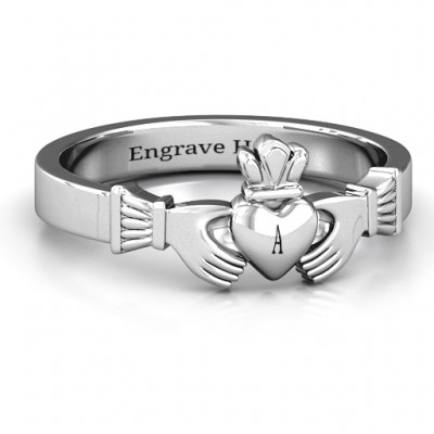 Classic Claddagh Personalised Ring - AMAZINGNECKLACE.COM