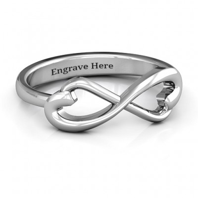 Classic Hearts Infinity Personalised Ring - AMAZINGNECKLACE.COM