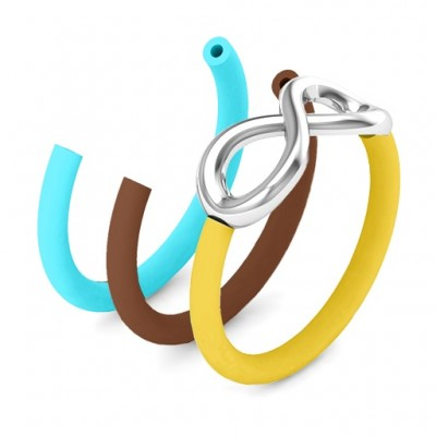 Classic Infinity Personalised Ring with Changeable Bands - AMAZINGNECKLACE.COM