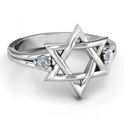 Classic Star of David Personalised Ring - AMAZINGNECKLACE.COM
