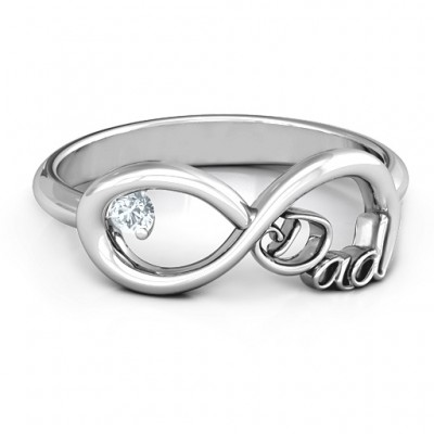 Dad Infinity Personalised Ring - AMAZINGNECKLACE.COM