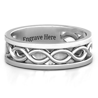Diadem Infinity Men's Personalised Ring - AMAZINGNECKLACE.COM