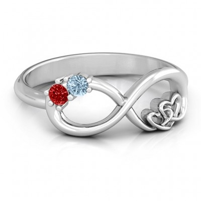 Double the Love Infinity Personalised Ring - AMAZINGNECKLACE.COM