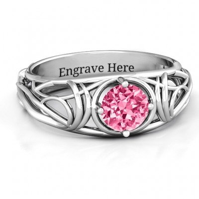 Enchanting Tangle of Love Personalised Ring - AMAZINGNECKLACE.COM