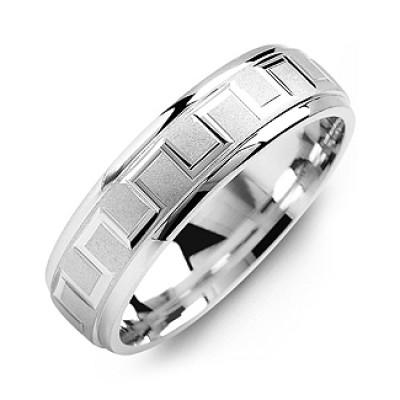 Eternal Greek Key Men's Personalised Ring - AMAZINGNECKLACE.COM