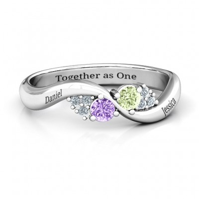 Everyday Dream Personalised Ring With Shoulder Accents - AMAZINGNECKLACE.COM
