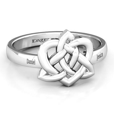 Fancy Celtic Personalised Ring - AMAZINGNECKLACE.COM