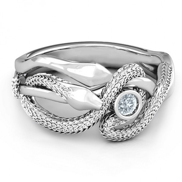 Guardian Snake Personalised Ring - AMAZINGNECKLACE.COM