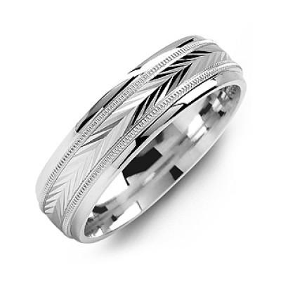 Harvest of Love Milgrain Men's Personalised Ring - AMAZINGNECKLACE.COM