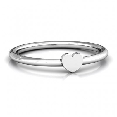 Heart Stackr Personalised Ring - AMAZINGNECKLACE.COM