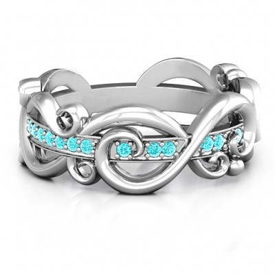 Imperative Love Infinity Personalised Ring - AMAZINGNECKLACE.COM