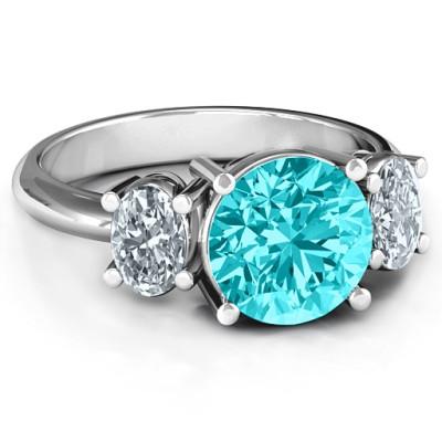 Impressive Three Stone Eternity Personalised Ring  - AMAZINGNECKLACE.COM