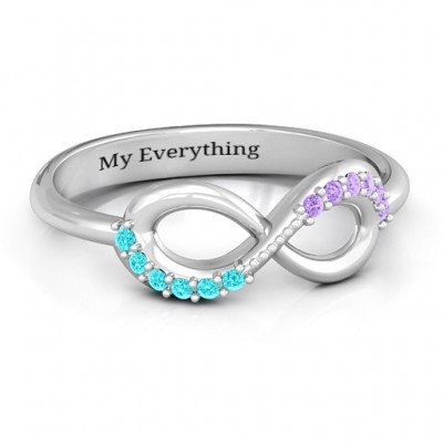 Infinity Accent Personalised Ring - AMAZINGNECKLACE.COM