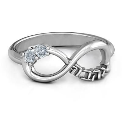 Infinity Ahava Personalised Ring - AMAZINGNECKLACE.COM