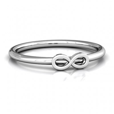 Infinity Stackr Personalised Ring - AMAZINGNECKLACE.COM