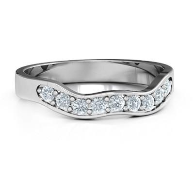 Jasmine Band Personalised Ring - AMAZINGNECKLACE.COM