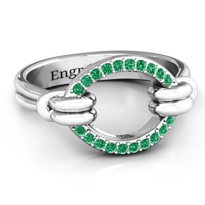 Karma Personalised Ring with 20 Stones  - AMAZINGNECKLACE.COM
