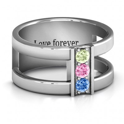 Layers Of Love Personalised Ring - AMAZINGNECKLACE.COM