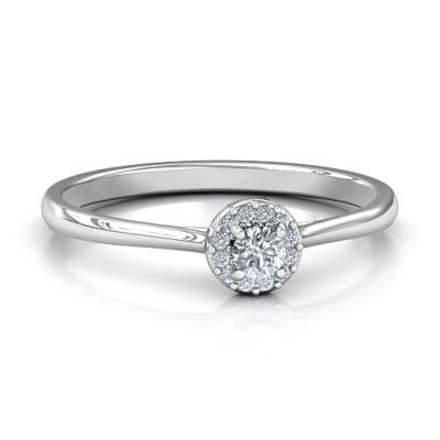 Little Luxury Halo Personalised Ring - AMAZINGNECKLACE.COM