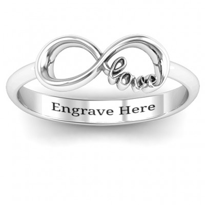 Love Infinity Personalised Ring - AMAZINGNECKLACE.COM