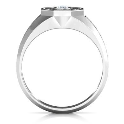 Men's Celtic Knot Signet Personalised Ring - AMAZINGNECKLACE.COM
