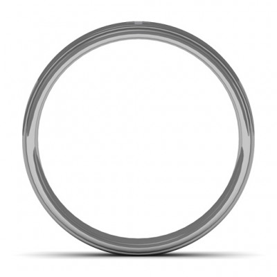 Men's Cross and Brushed Centre Tungsten Personalised Ring - AMAZINGNECKLACE.COM
