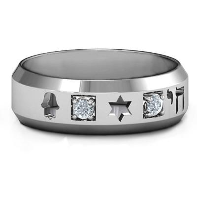 Men's Judaica Personalised Ring - AMAZINGNECKLACE.COM