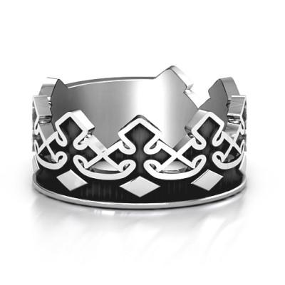 Men's Regal Crown Band - AMAZINGNECKLACE.COM