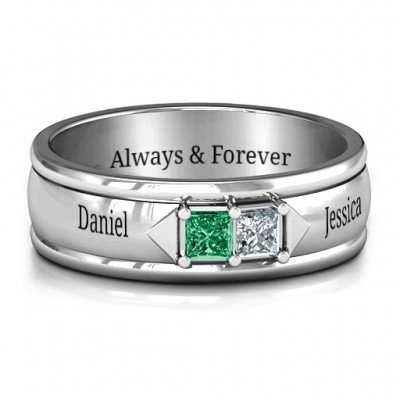 Men's Timeless Romance Personalised Ring - AMAZINGNECKLACE.COM