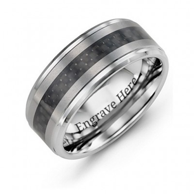 Men's Trinity Tungsten Personalised Ring - AMAZINGNECKLACE.COM