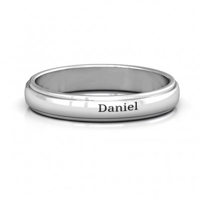 Menelaus Bevelled Women's Personalised Ring - AMAZINGNECKLACE.COM