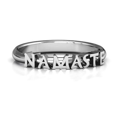 Namaste Personalised Ring - AMAZINGNECKLACE.COM