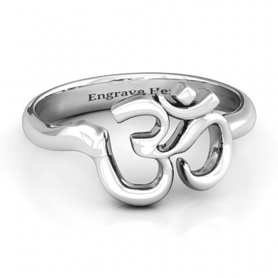 Om - Sound of Universe Personalised Ring - AMAZINGNECKLACE.COM
