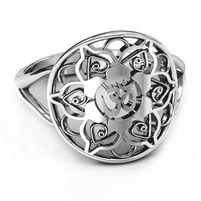 Om Mandala Personalised Ring - AMAZINGNECKLACE.COM