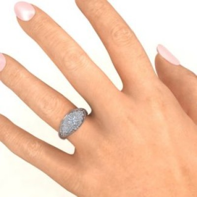 Paved in Love Personalised Ring - AMAZINGNECKLACE.COM