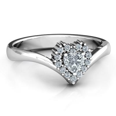 Peak of Love Personalised Ring - AMAZINGNECKLACE.COM