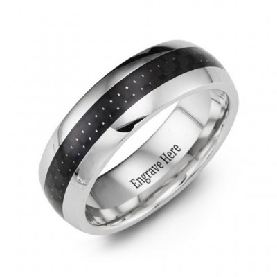 Polished Cobalt Personalised Ring - AMAZINGNECKLACE.COM