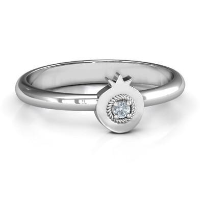 Pomegranate Personalised Ring - AMAZINGNECKLACE.COM