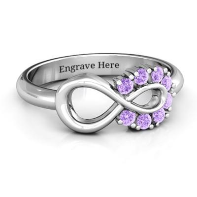 Precious Infinity Personalised Ring - AMAZINGNECKLACE.COM