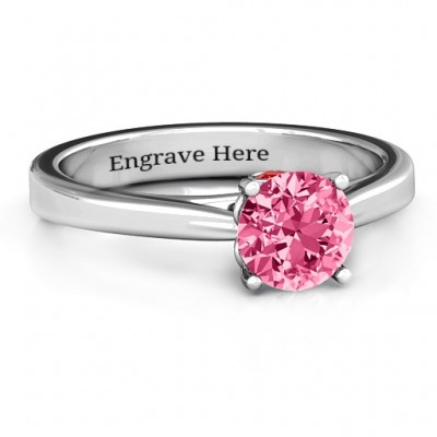 Royal Tulip Personalised Ring with Bezel Collar Stone  - AMAZINGNECKLACE.COM
