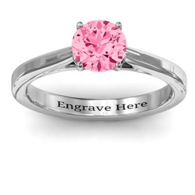 Royal Tulip Personalised Ring with Bezel Collar Stone  - AMAZINGNECKLACE.COM