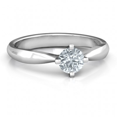 Sandra Solitaire Personalised Ring - AMAZINGNECKLACE.COM