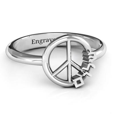 Shalom Peace Personalised Ring - AMAZINGNECKLACE.COM