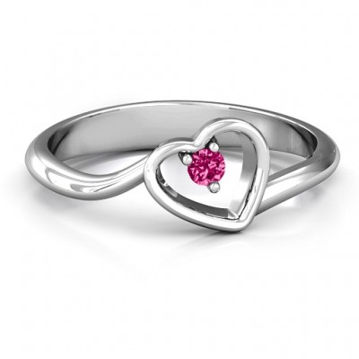 Single Heart Bypass Personalised Ring - AMAZINGNECKLACE.COM