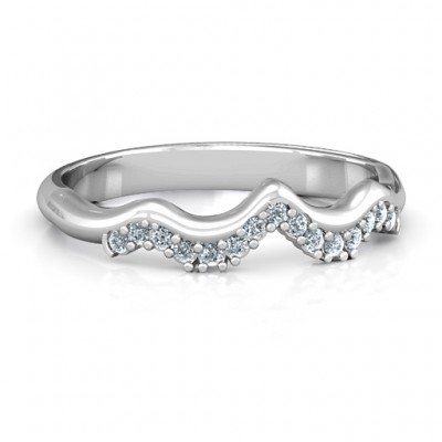 Solitaire Infinity Shadow Band - AMAZINGNECKLACE.COM