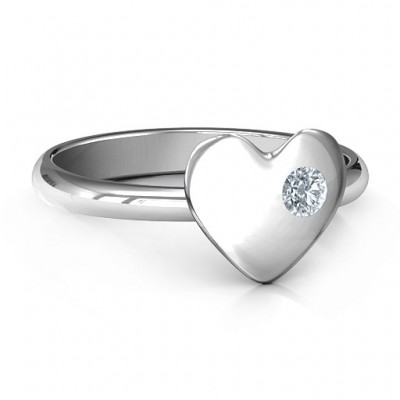 Soulmate's Heart Personalised Ring - AMAZINGNECKLACE.COM