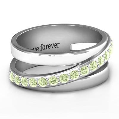 Sparkling Sash Personalised Ring - AMAZINGNECKLACE.COM