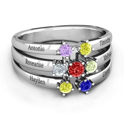 Spidra' Round Centre Personalised Ring - AMAZINGNECKLACE.COM